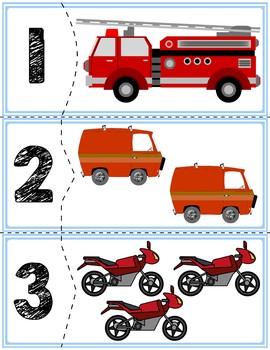 Transportation Self-Correcting Quantity Puzzles #'s 1-10