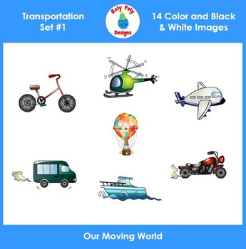 Transportation Set 1 Clip Art