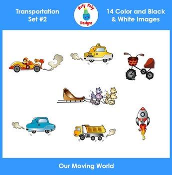 Transportation Set 2 Clip Art