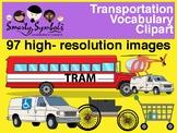 Transportation Clipart Set: 96 PNG Images