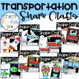 Transportation Shape Crafts Bundle