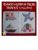 Transportation Shapes Collage Template