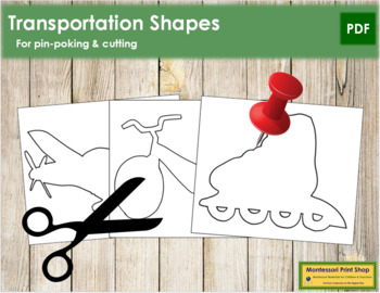 Transportation Shapes: Pin-Poke & Cutting