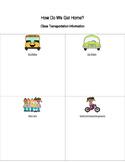 Transportation Sheet- How Do We Get Home?