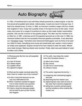 Transportation Short Reading Passages