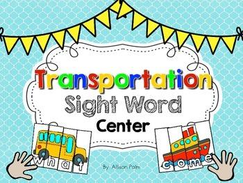 Transportation Sight Word Center