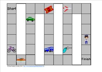 Transportation Sight Word Race