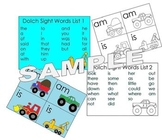 Transportation Sight Words Flash Cards and Game