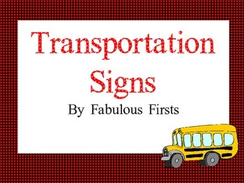 Transportation Signs in Red and Black
