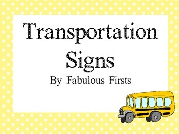 Transportation Signs in Yellow