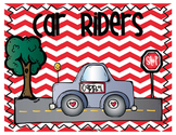 Dismissal Chart - Transportation Signs and Posters with Student Labels