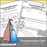 Transportation Sort - Land, Water or Air
