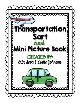 Transportation Sort & Mini Picture Book