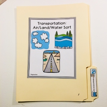 Transportation Sort for Autism Early Childhood Special Education