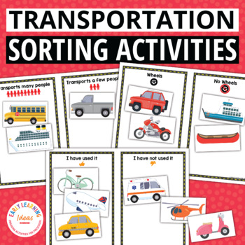 Transportation Sorting Activities for Preschool and Pre-K
