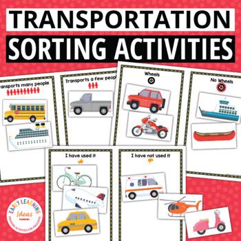 transportation sorting activities for preschool and pre k tpt. Black Bedroom Furniture Sets. Home Design Ideas