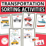 Transportation Sorting Activities for Preschool and Pre-K