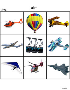 Transportation Sorting Activity - Special Education Resource