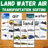 Transportation Sorting Activity - Land, Water, Air