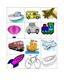 Transportation Sorting Activity