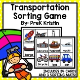 Transportation Sorting Game