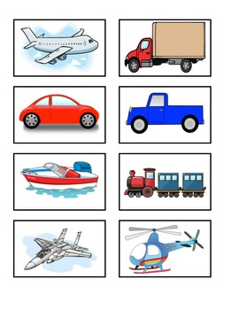 Transportation Sorting--Land, Air, Water