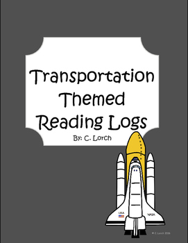 Transportation Themed Reading Logs Pack