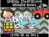 Transportation Spanish Interactive Reading Books Can Be Used With Frog Street