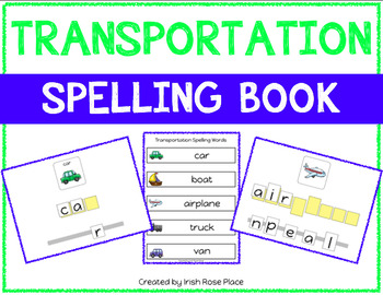 Transportation Spelling Books (Adapted Book)