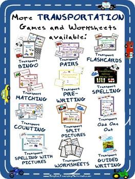 Transportation Spelling   FREE Worksheet