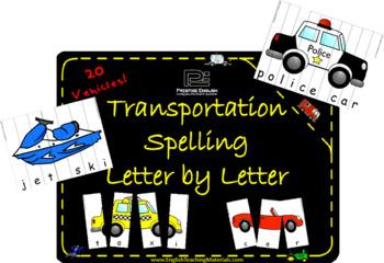 Transportation Spelling | Letter by Letter