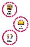 Transportation Stop Light Labels