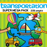 Transportation Activities, Centers and Printables BIG - 206 pages