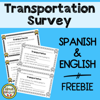 Transportation Survey - Spanish and English