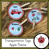 Transportation Tags - Apple Theme