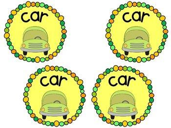Transportation Tags {Back to School} Car Bus Daycare Walk ~200 Followers FREEBIE