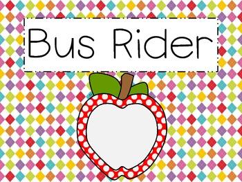 Transportation Tags {Bright Apple}