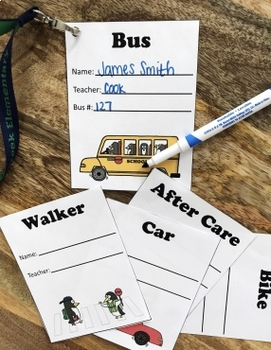 Transportation Tags for Dismissal - Penguin Theme