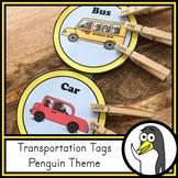 Transportation Tags - Penguin Theme