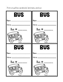 Transportation Tags for Dismissal