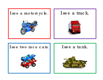Transportation Task Cards ELA Reading Strategy 16 Literacy I-See Task Cards 4pgs