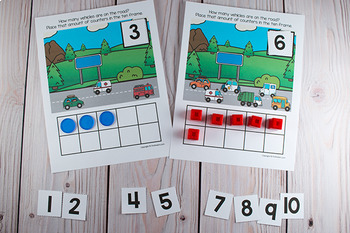 Transportation Ten Frame Game  (Pre-K + K Math)