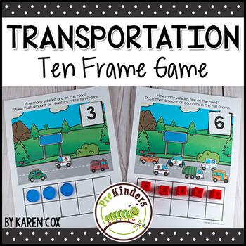 Transportation Ten Frame Game  (Pre-K + K Math)