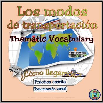 Transportation Thematic Vocabulary Reference - Los modos de transportación