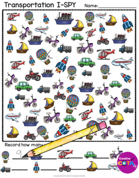 Transportation Theme Differentiated Worksheets and Activities