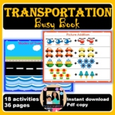 Transportation Theme Busy Book | Modes of Transport