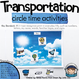 Transportation Circle Time Activities for Preschool and Kindergarten