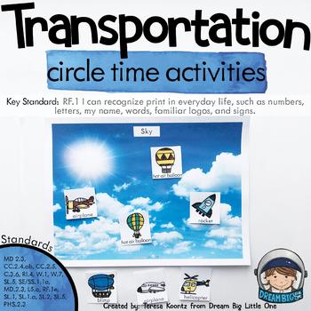 Transportation Circle Time Activities for Preschool and Kindergarten