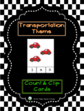 Transportation Theme - Count and Clip Cards