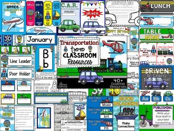 Transportation Theme Decor Pack